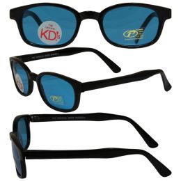 Original KD's Biker Sunglasses with Turquoise Lenses