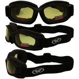 Nitro Riding Goggles with Extra Large Soft Airy Vented Foam and Yellow Lenses